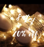 Wedding Decor FAIRY STRING LIGHTS, batteries included!  SALE!!!
