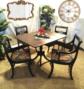 Gorgeous Mahogany Cedar Refinished DUNCAN PHYFE Dining Set