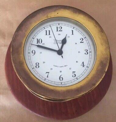 Vintage WEEMS & PLATH Quartz Ship's Bell Clock Nautical Maritime W Germany  Quartz Ships Bell Clock