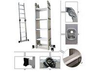 Foldable, multipurpose, aluminum ladder, max 4.8m