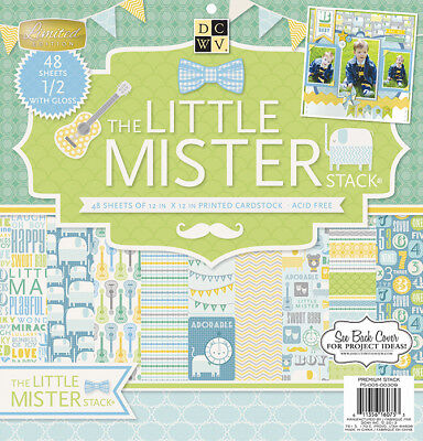 Diecuts With A View Paper Stack, 12 by 12-Inch, Little Mister, - Crafts With Construction Paper