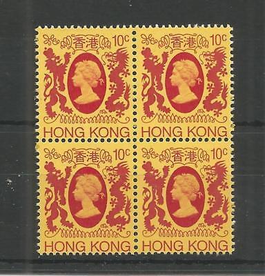 HONG KONG 1982 10c DEFINITIVE BLOCK OF FOUR SG,415 U/M LOT 5767A