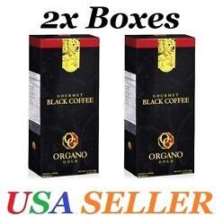 2 Boxes ORGANO GOLD GOURMET BLACK COFFEE - EXP.06/2020