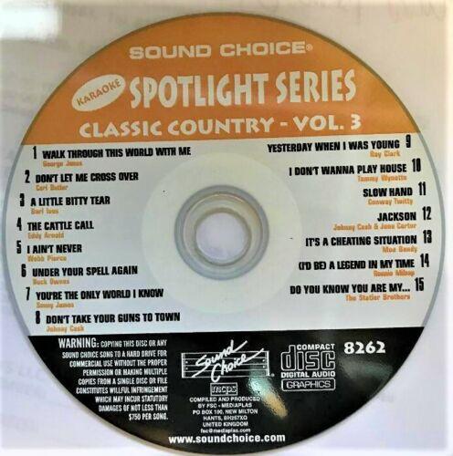SOUND CHOICE KARAOKE SPOTLIGHT SERIES CD+G -8262- CLASSIC COUNTRY  VOL. 3 - CDG