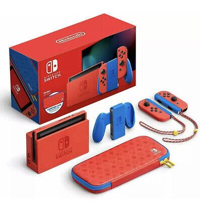 Nintendo Switch Console 32GB Mario Red & Blue Edition Bundle w/ Case