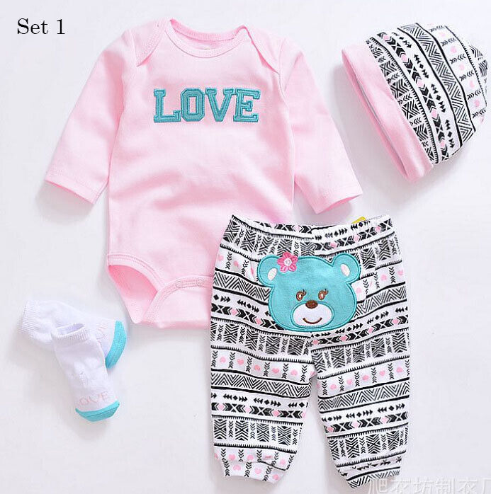 """22"""" Reborn Baby Doll Outfit Boy&Girl Newborn Baby Doll Accessories Clothes Only"""