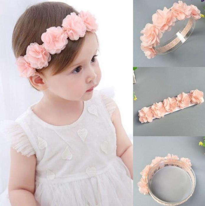 Fashion Kids Toddler Girl Cute Sweet Lager Nylon Bow Headband Hair Band Headwear