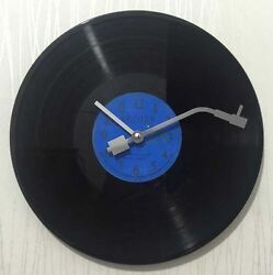 Novelty Modern Battery Operated Vinyl Record Wall Clock with Turntable Stylus