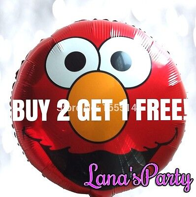 18 Inch Sesame Street Elmo Happy Birthday Party Balloon decor ](Elmo Party Decor)
