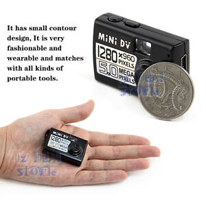 ★8GB★ 5MP HD Smallest Mini DV Hidden Digital Camera Video Recorder Webcam No Spy