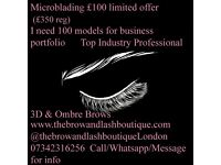 Microblading 6D eyebrows Models needed for portfolio £350 service for £100