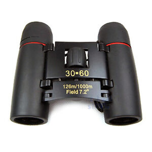 New Binoculars 30x60 Zoom Folding Telescope with Coated Optics Night Vision
