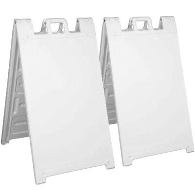 2 Pack Signicade A-frame Plastic Pavement Sidewalk Sandwich Sign Board 24x36 Wb
