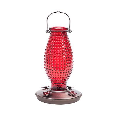 Perky-Pet Red Hobnail Vintage Glass Hummingbird Feeder 8130-