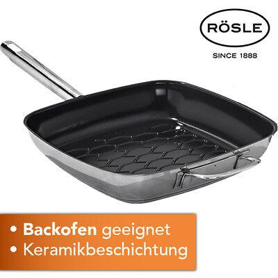 Rösle Grillpfanne  Kochen Grillen Küche Keramik Induktion Steak Backofen NEU Kochen Pfanne