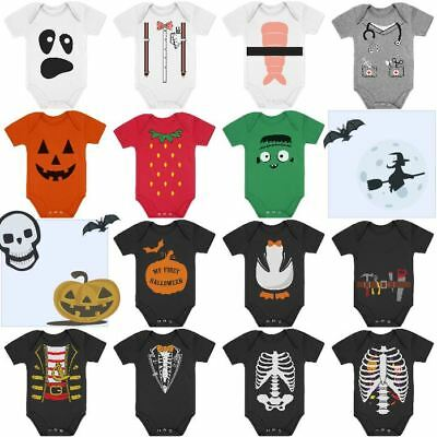 First Halloween - Baby Infant Newborn Bodysuit Romper Costume 3M 6M - Newborn First Halloween