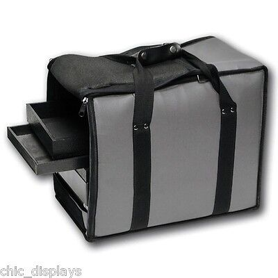 Gray Carry Case Jewelry Case Travel Case Salesman Case Soft Vinyl Case Hot Deal