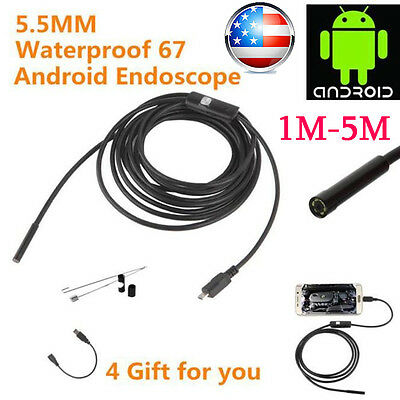 5.5mm 6 LED Endoscope Waterproof Borescope Inspection Camera For Andorid Phone