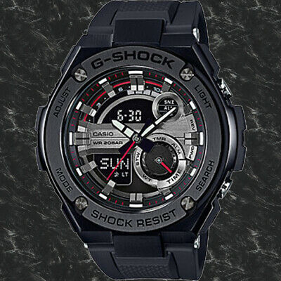 Casio GST-210B-1A G-Shock 200M WR World Time Black Men's Watch Analog Digital G-shock 200m World Time Watch