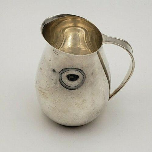 Vintage Monogrammed Gorham #1053-0 Sterling Silver Syrup or Cream Pitcher  #7778