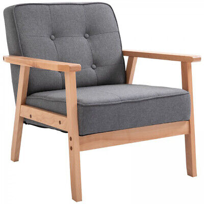 Vintage Armchair Mid Century Retro Style Lounge Living Room Accent Chair Seat