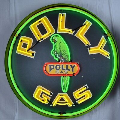 "Giant Polly Gas 3 Ft. 36"" Round Neon Sign 9GSPLY w/ Free Shipping"