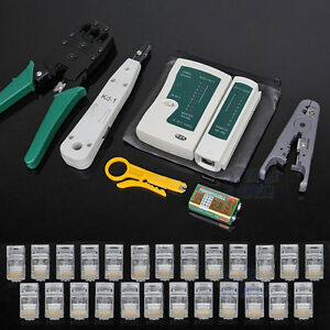 Network-Lan-RJ45-Cable-Crimp-Punch-Down-Tester-Stripper-Modular-Plug-Tool-Kit-AU