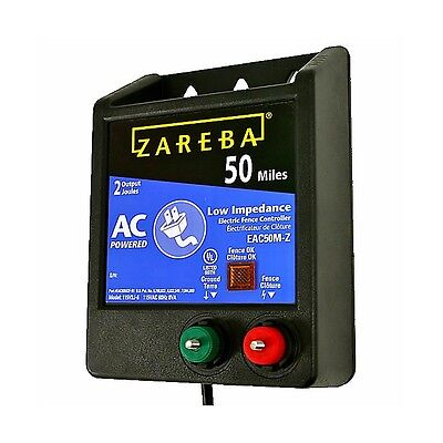 Zareba Eac 50 M-z Fencer 50 Mile Ac Low Impedance Fence Charger Safe Effective