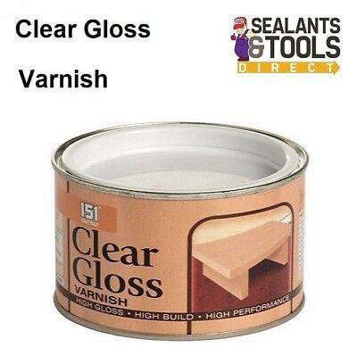 Clear High Gloss Wood Varnish High Build Finish 180ml Tin Internal External