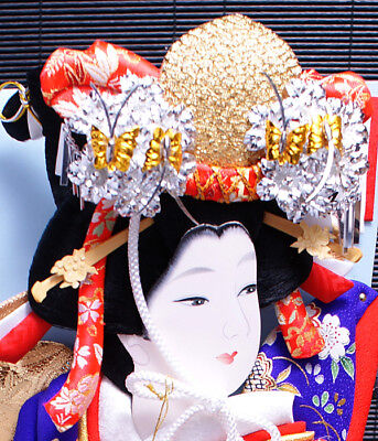 Kimono Japanese Hagoita Paddle Shiokumi Geisha Furisode New for sale  Shipping to Canada