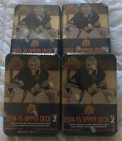 2014/15 UPPERDECK SERIES 2 LOT OF 4 TINs *UNOPENED* FACTORY SEAL