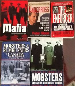 $5 each, 3/$10: True books on MAFIA, WAR & MURDER