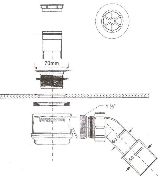 duschablauf 50 55mm ablaufgarnitur dusche ablauf. Black Bedroom Furniture Sets. Home Design Ideas
