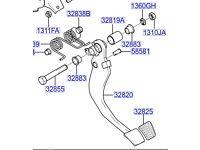 Hyundai Coupe Clutch Pedal 328202D940