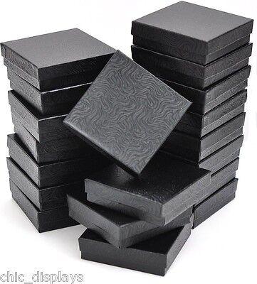 Lot Of 12 Black Cotton Filled Box Jewelry Gift Boxes Bracelet Bangle Box 3.5x3.5