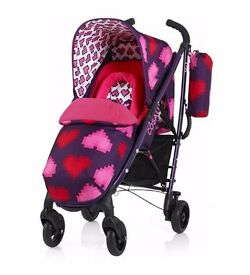 cossatto yo heart pixel stroller new footmuff and hood and used base