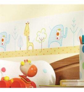 f38376477 NEW SEALED Lollipop Lane Tiddly Wink Safari Children's /Nursery Wallpaper  Border