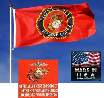 3x5 OFFICIAL USMC Marine Corps MARINES EMBLEM SEAL Crest FLAG Banner*USA MADE