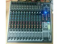 Behringer Xenyx x2442usb mixing desk with flightcase