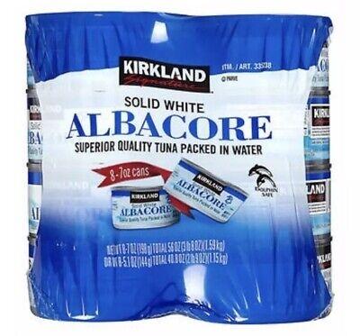 Kirkland Signature Solid White Albacore Tuna Superior 8 Cans -