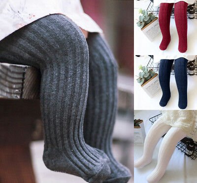 Baby Toddler Girls Cable Knit Tights Non-slip Socks Stockings Cotton Pants 1-5T Cable Knit Cotton Tights