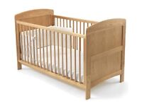 Milano baby/toddler cot bed including two mattresses (excellent condition)