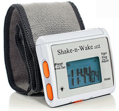 Tech Tools Shake-n-Wake Silent Vibrating Alarm Wrist Watch PI-107