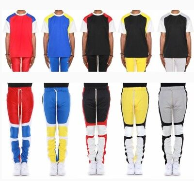 New EPTM Men's Color Block Motocross Track Pants and tee set Colorblock Track Pant