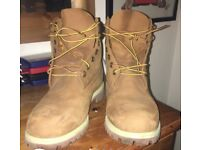 Men's Timberland Boots - Size 9. Worn once, slight mark on one boot - paid £180