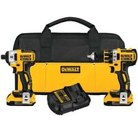 Dewalt 20v Max XR compact drill and impact combo kit