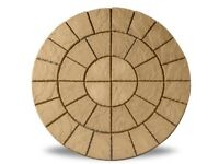 Golden Sand 6ft Patio Garden Circle Feature Kit