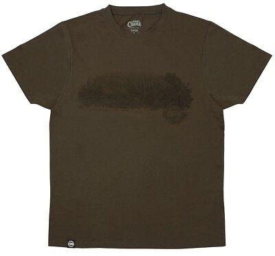 Fox CHUNK Carp Fishing Clothing Range - Dark Khaki Scenic T-Shirts - All Sizes