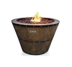 Sunbeam Wine Barrel Fire Pit