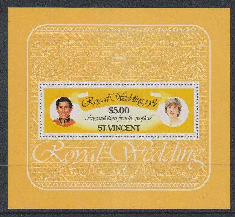 St Vincent - 1981, Royal Wedding sheet - MNH - SG MS674